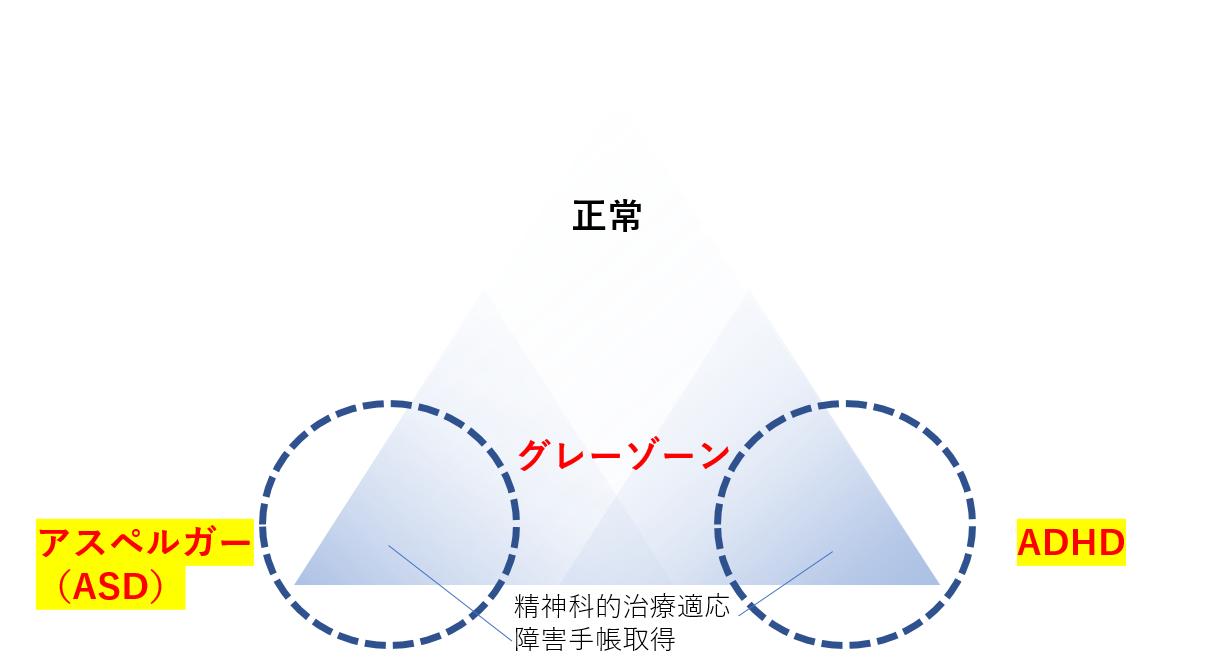 自閉症スペクトラム(アスペルガー症候群)の図