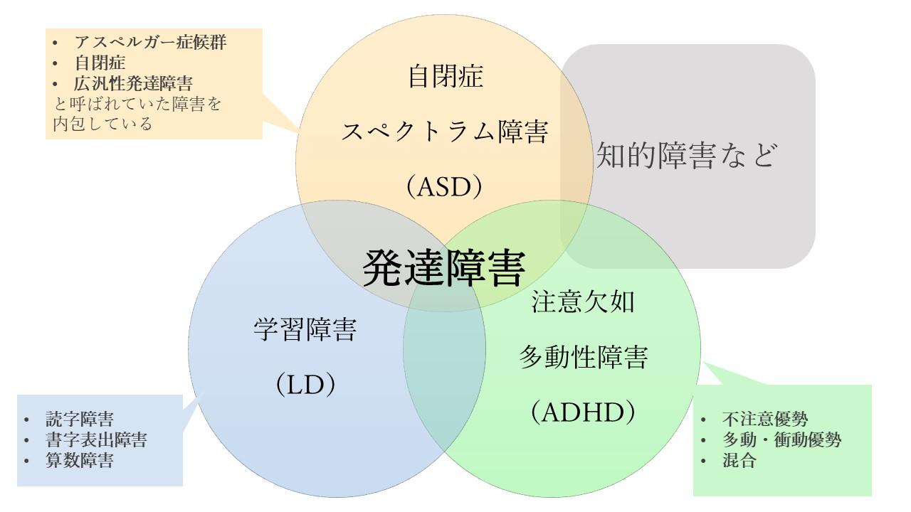 発達障害の3つのタイプ